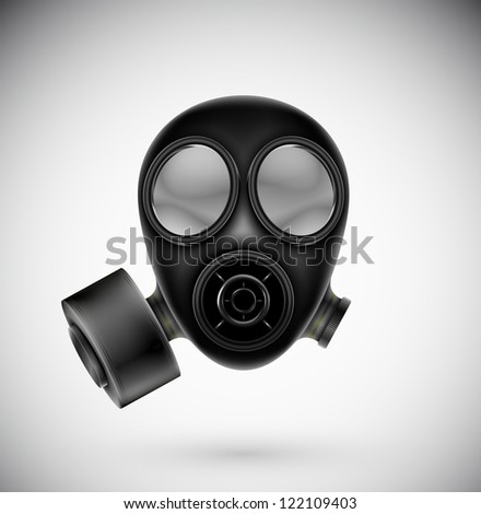 Isolated gas mask. Eps 10 - stock vector