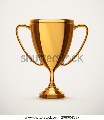 Isolated gold cup, eps 10 - stock vector