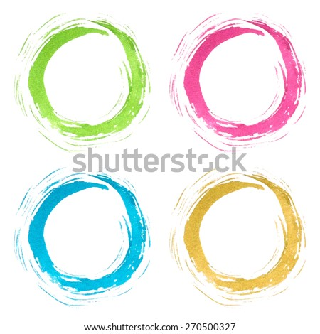 Isolated hand drawn colorful circles. Vector watercolor. Abstract background. - stock vector