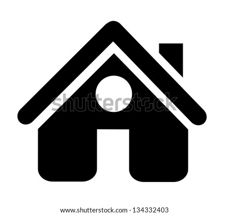 Isolated house icon on white background. Vector illustration. - stock vector