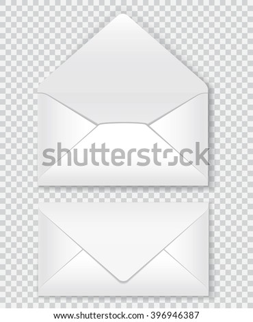 isolated, indoor and outdoor design of the mail envelope. EPS 10. - stock vector
