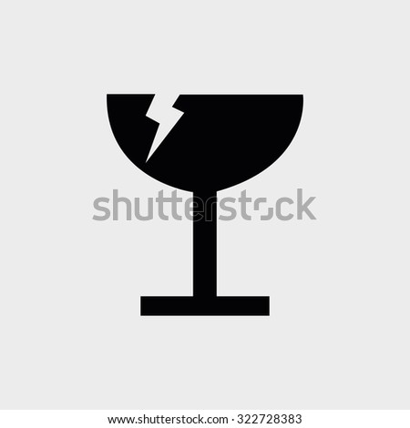 Isolated logistic & delivery icon on a white background - stock vector