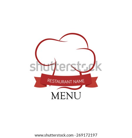 Isolated menu icon and text on a white background. Vector illustration - stock vector