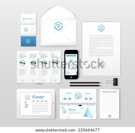 Isolated mockup show case vector design elements for business design presentation  - stock vector
