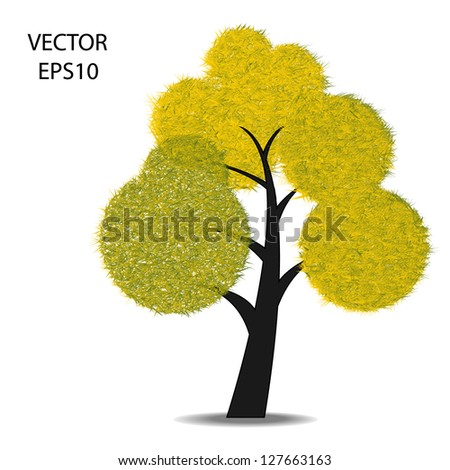 isolated of trees symbol,tree sign on background,tree illustration,vector. - stock vector