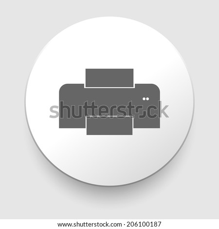 Isolated print icon on white background. EPS10 illustration - stock vector