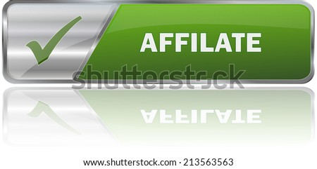 isolated realistic modern green 3D vector eps10 affilate label sign - stock vector