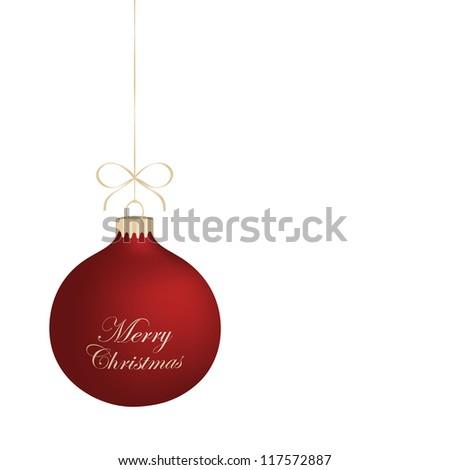 Isolated realistic vector Christmas ball. - stock vector