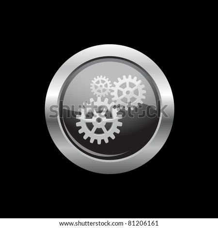 Isolated repairing metal button, vector illustration, eps10 - stock vector