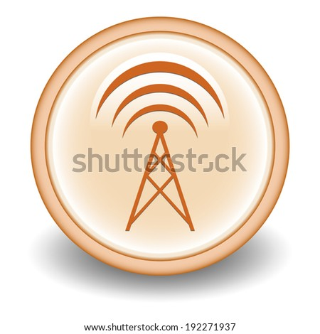 Isolated signal icon - stock vector