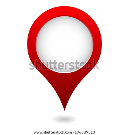 isolated simple red map pointer - stock vector