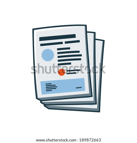 Isolated simplified posters or flyers icon in cartoon style. Print publishing icon series.   - stock vector