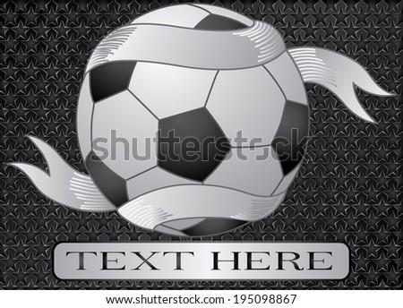 isolated soccer ball  - stock vector