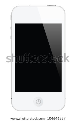 isolated touch screen smartphone, vector format. - stock vector