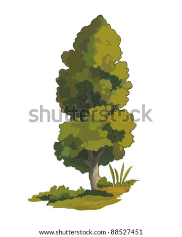 Isolated tree illustration - stock vector
