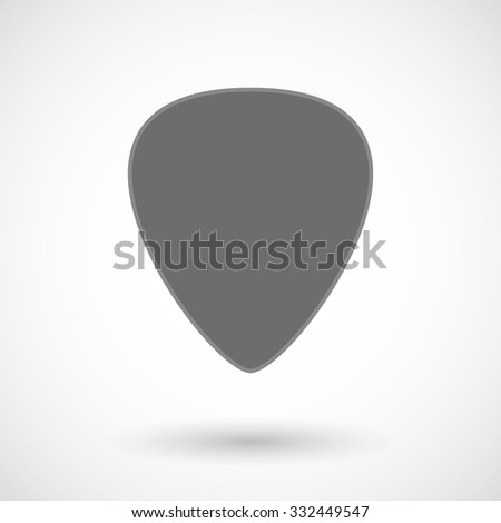 Isolated vector illustration of a plectrum - stock vector