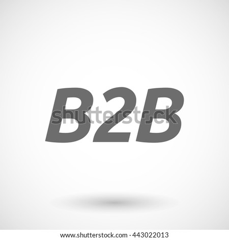 Isolated vector illustration of    the text B2B - stock vector
