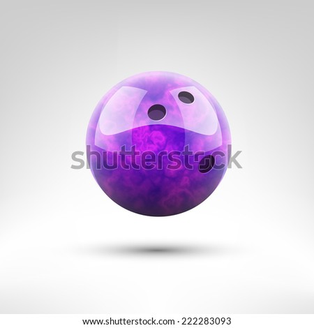Isolated violet bowling ball vector illustration - stock vector