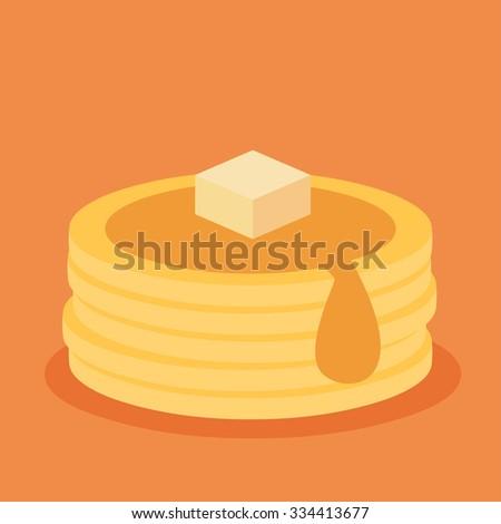 Isometric icon of pancakes - stock vector