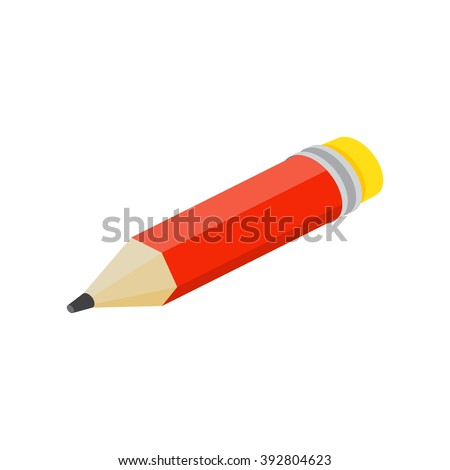 Isometric pencil on white background. For web design and application interface, also useful for infographics.Thin line icon. Vector illustration. - stock vector