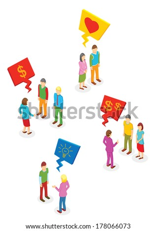 Isometric People collection - stock vector