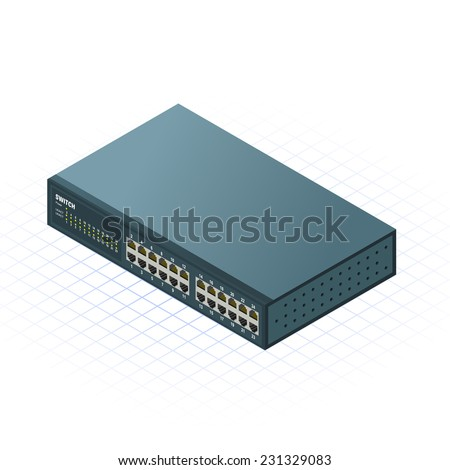 Isometric Switch Vector Illustration - stock vector