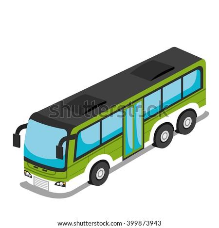 isometric vehicle design  - stock vector