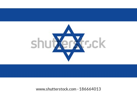 israel flag vector - stock vector