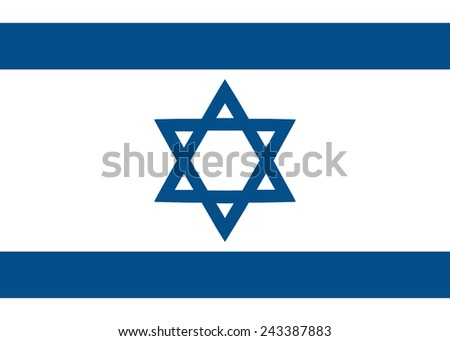 Israeli flag - stock vector