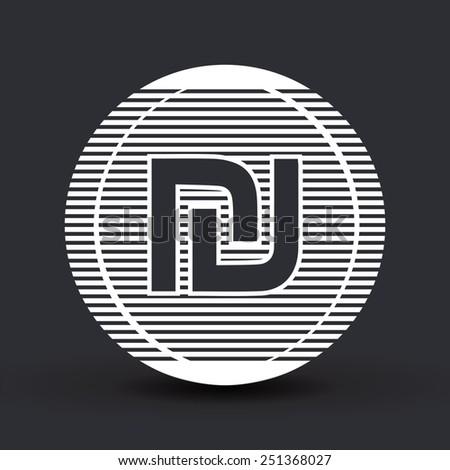 Israeli Shekel currency symbol. Flat design style. Made in vector illustration - stock vector
