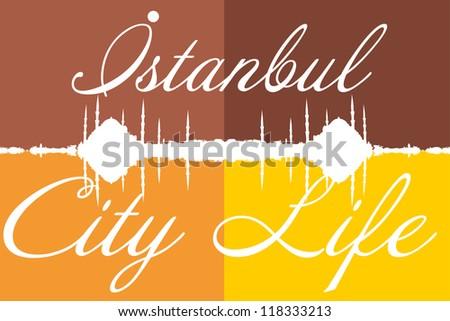 istanbul city life - stock vector