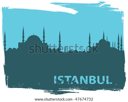 istanbul cityscape - stock vector