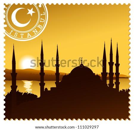 istanbul illustration - stock vector