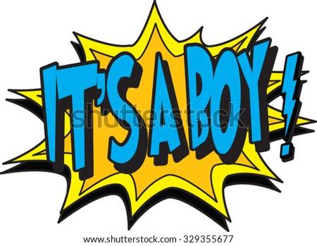 it's a boy - stock vector