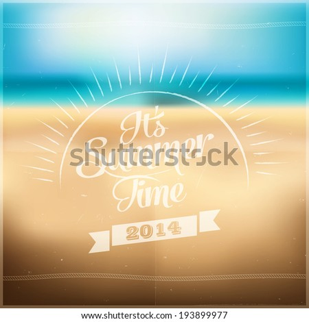 It's Summer Time - stock vector