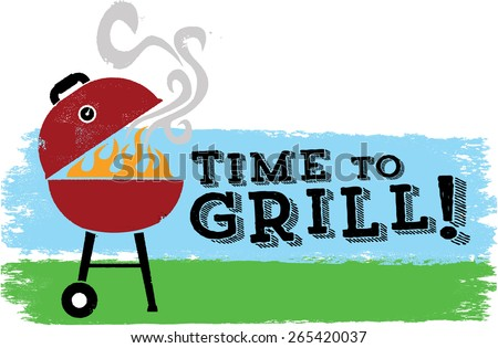 It's Time to Grill - stock vector
