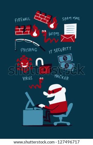IT Security - stock vector