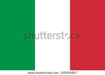 Italian flag. National symbol of Italy. Correct colors and proportions. Three horizontal stripes: green, white, red. Can be used for political news, maps, state symbols of country. Vector illustration - stock vector