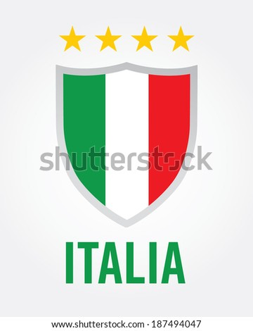 Italy Championship Soccer Crest - Vector - stock vector