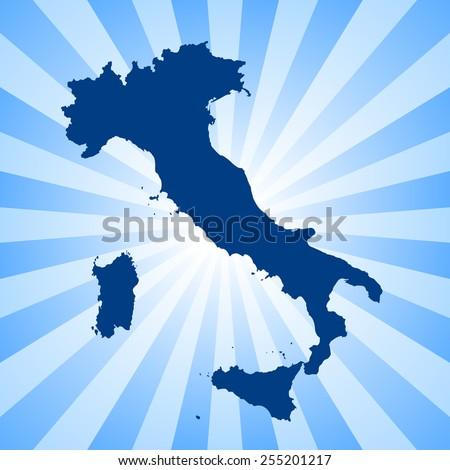 Italy map - stock vector
