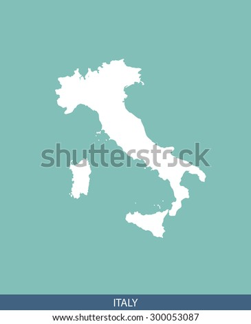 Italy map vector, Italy map outlines for science, brochure, tourist map, and other publication uses - stock vector