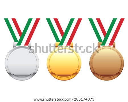 Italy medals - stock vector