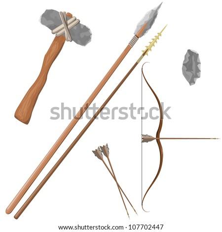 Items ancient people - stock vector