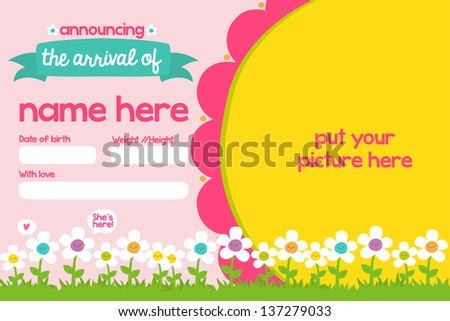 Its a Girl - stock vector