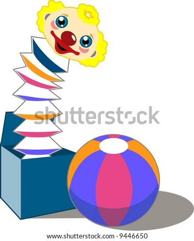 jack-in-the-box - stock vector