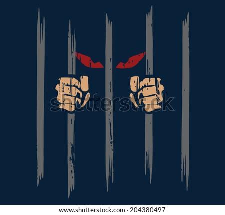 jail - stock vector