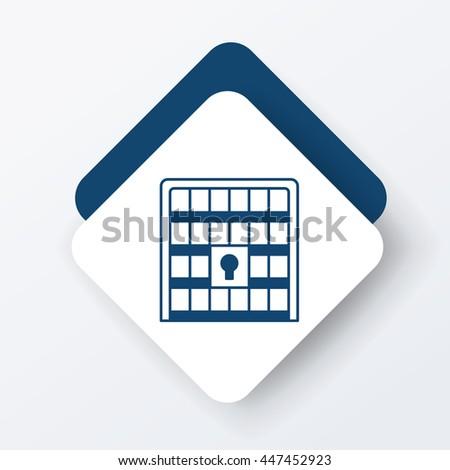 jail icon - stock vector