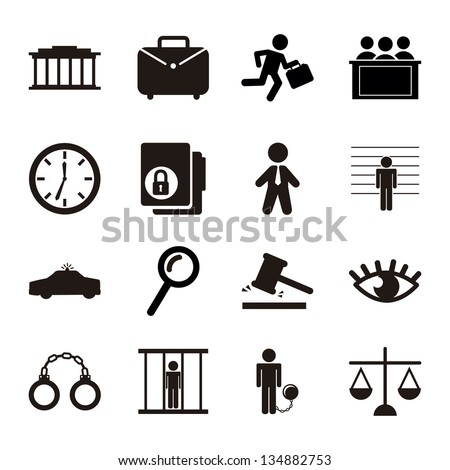 jail icons over white background. vector illustration - stock vector