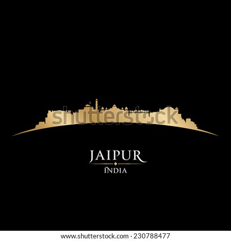 Jaipur India city skyline silhouette. Vector illustration - stock vector