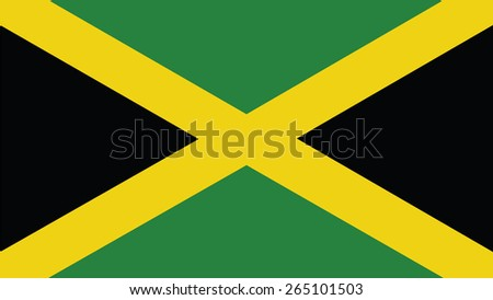 jamaica Flag for Independence Day and infographic Vector illustration. - stock vector